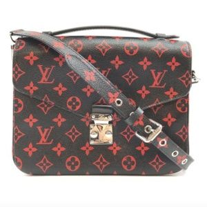 Pochette Metis Infrarouge Red Canvas Cross BodyBag